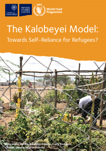 The Kalobeyei Model: Towards Self-Reliance for Refugees? Cover Image
